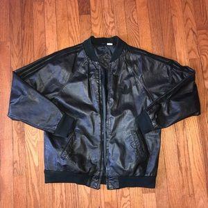 Vintage Adidas Run DMC Leather Jacket See Pics M
